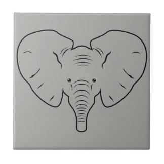 Azulejo Silueta de la cara del elefante
