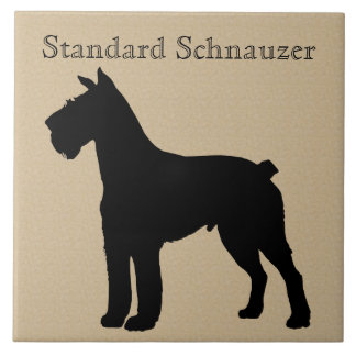 Azulejo Silueta del perro del Schnauzer estándar