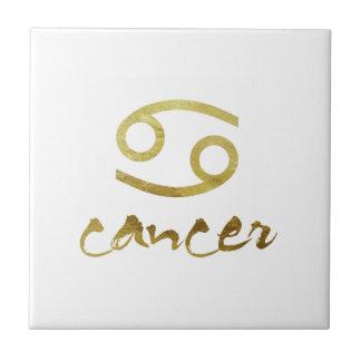 Azulejo Símbolo del cáncer de la hoja de oro