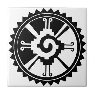 Azulejo Símbolo maya Hunab Ku de la deidad