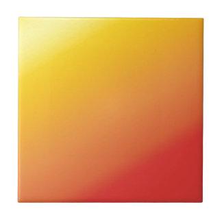 Azulejo Sombra anaranjada llana del rojo del oro