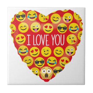 Azulejo Sorprender te amo el regalo de Emoji