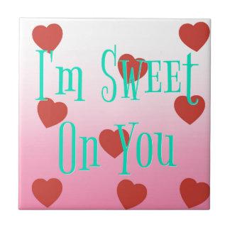 Azulejo Soy dulce en usted los corazones de encargo del el