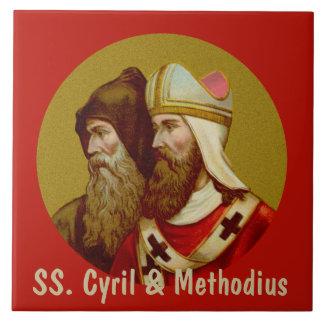 Azulejo SS. Cyril y Methodius (M 001) de cerámica