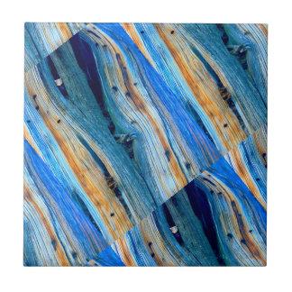 Azulejo tableros de madera azules rústicos angulosos