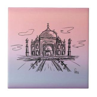 Azulejo Taj Mahal a color