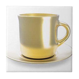 Azulejo Taza de café de oro