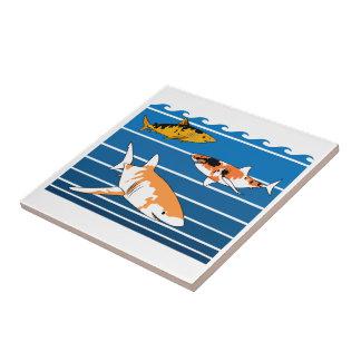Azulejo Tiburones de Koi