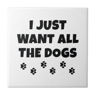Azulejo Todos los perros