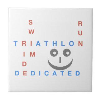 Azulejo Triathlon soy dedicado