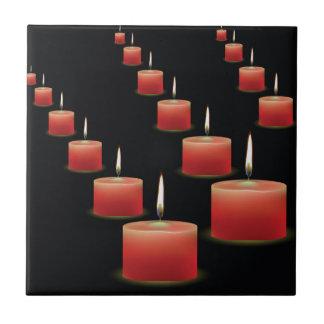 Azulejo velas rojas