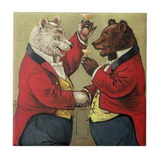 Azulejo Victorian feliz, osos gay, de bailes del vintage
