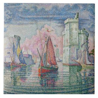 Azulejo Vintage Entrée du port de La Rochelle Paul Signac