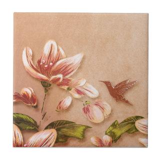 Azulejo Vintage rosado de las azaleas floral en el boda