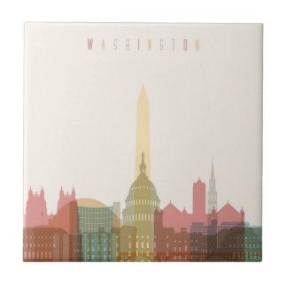 Azulejo Washington, horizonte de la ciudad de DC el  