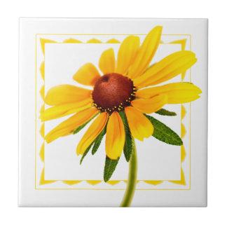 Azulejo Wildflower Negro-Observado fotografía floral de
