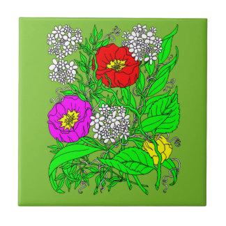 Azulejo Wildflowers 2