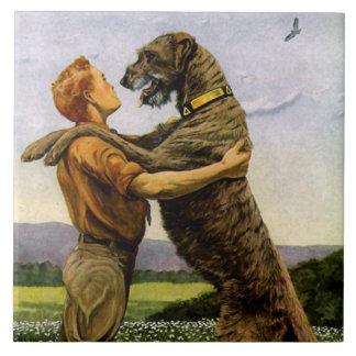 Azulejo Wolfhound irlandés