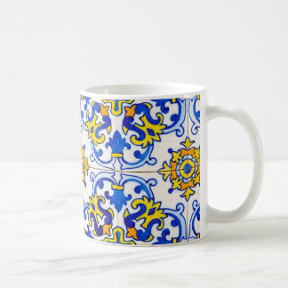 Azulejos el arte de baldosas cerámicas portuguesas taza de café