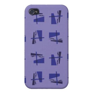 Azules abstractos del modelo iPhone 4 funda