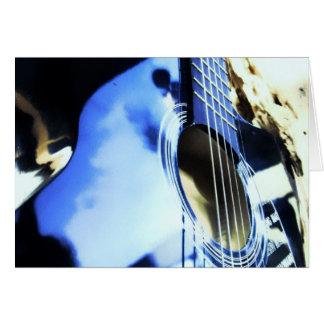azules acústicos tarjeta de felicitación