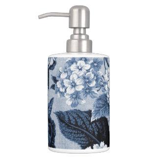 Azules añiles Toile floral No.1 Conjunto De Baño