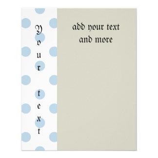 azules claros, lunar, blanco, lindo, femenino, de folleto 11,4 x 14,2 cm