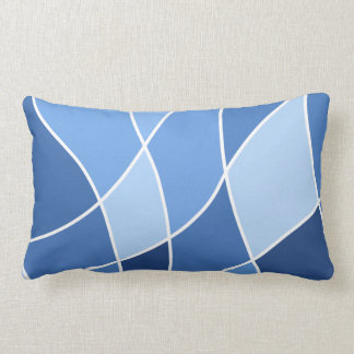 Azules de cielo - diseño elegante de moda cojín lumbar