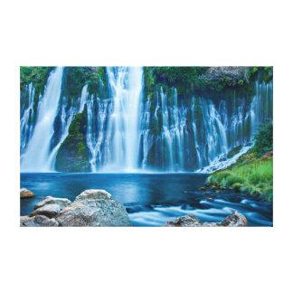 Azules de la cascada impresión en lienzo