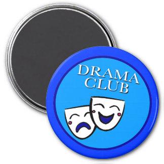 Azules de la insignia del club del drama imán para frigorífico