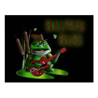 Azules de la rana mugidora postal