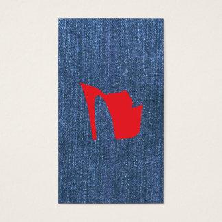 Azules del dril de algodón tarjeta de negocios