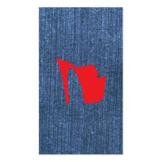 Azules del dril de algodón tarjeta personal