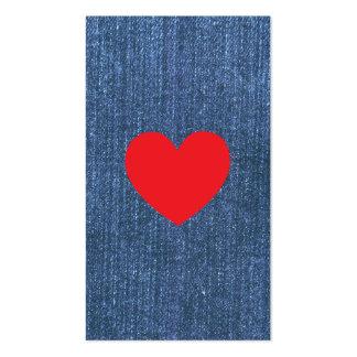 Azules del dril de algodón plantillas de tarjeta de negocio