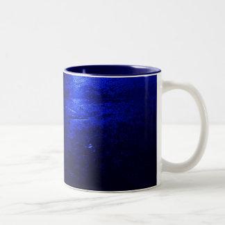 Azules marinos azules congelados taza del Dos-Tono