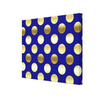 Azules marinos con clase de los lunares de la hoja impresión en lienzo