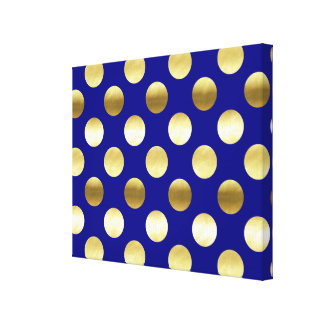 Azules marinos con clase de los lunares de la hoja lienzo