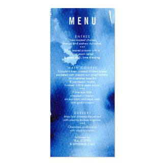 Azules marinos de la oscuridad de la acuarela del invitación 10,1 x 23,5 cm