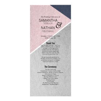Azules marinos del cuarzo color de rosa de Geo y Tarjeta Publicitaria