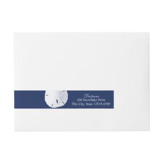 Azules marinos del dólar de arena pegatinas postales