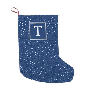 Azules marinos el | de las nevadas el | del calcetín navideño pequeño