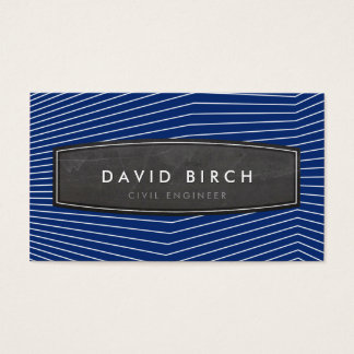 Azules marinos intrépidos de la insignia masculina tarjeta de negocios