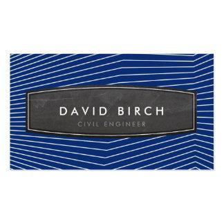 Azules marinos intrépidos de la insignia masculina plantilla de tarjeta de visita