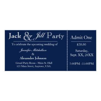 Azules marinos Jack e invitación del boleto de la