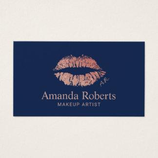 Azules marinos subiós del encanto de los labios tarjeta de visita
