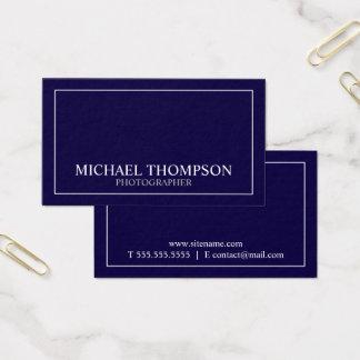 Azules marinos y blanco clásicos profesionales tarjeta de visita