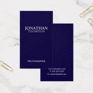 Azules marinos y blanco minimalistas profesionales tarjeta de visita