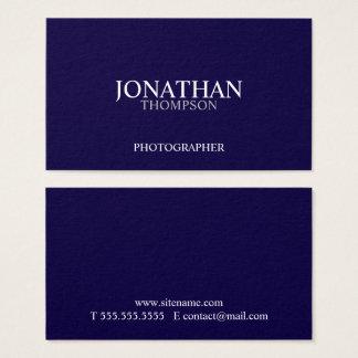 Azules marinos y blanco profesionales tarjeta de negocios
