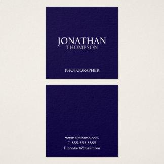 Azules marinos y blanco profesionales tarjeta de visita cuadrada