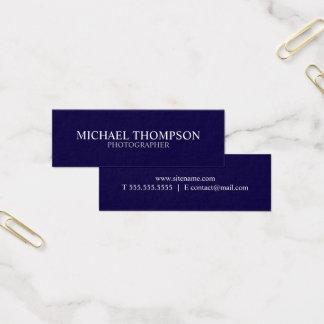 Azules marinos y blanco profesionales tarjeta de visita mini